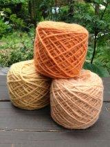 草木染めウール糸