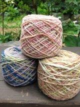 草木段染めヘンプウール糸