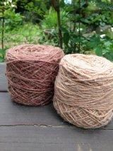 草木染めヘンプウール糸