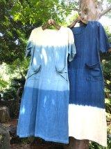 グラデーション*藍染めワンピース