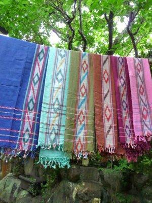 画像1: かすり織り*大判ショール